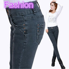 2014 The new style fashion classic tide tall waist gray women skinny jeans,N135#