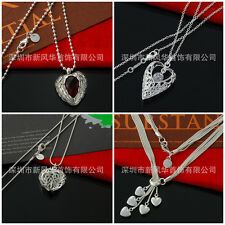 New Women's Fashion Silver Pendant Necklace Heart-shaped Style