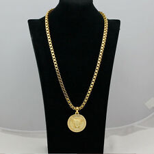 Fashion Jewelry Men's/Women's 24KT Yellow Gold Filled  Medusa Head Long Necklace