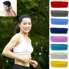 Hot Womens Mens Sports Sweat sweatband Headband Yoga Gym Stretch Head Hair Band