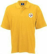 Pittsburgh Steelers NFL Team Apparel Dri Fit Polo Golf Shirt Gold All Sizes
