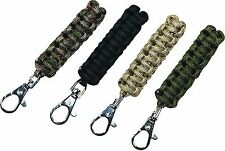 2 x WEB-TEX TACTICAL WOVEN SMALL CLIP ON PARACORD ZIP PULLER bushcraft survival