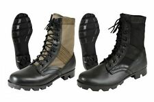 """Jungle Boots 8"""" Military Style GI Leather Combat Army Boots With Panama Sole"""
