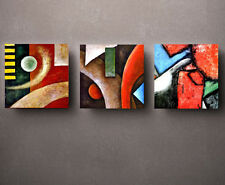 HD Print Oil painting Picture Modern Abstract on canvas set of 3 W009