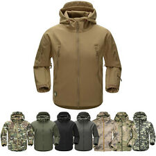 Men Outdoor Jacket Waterproof Coat Airsoft Military Hunting TAD Hoodie Shell