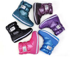 Winter Warm Candy Colorful Snow Boots Children Boy Girls Waterproof Casual Shoes