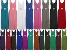 WOMENS LONG BUCKLE COCKTAIL PARTY MAXI FORMAL SLEEVELESS DRESS PLUS SIZE  8 - 26