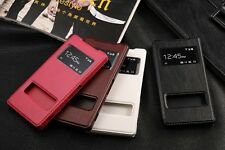 Window View time pick phone leather case cover wallet for Sony Xperia Z2 L50W