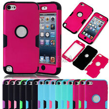 Rubberized Coating Hybrid Matte PC Soft Silicone Cover Case For iPod Touch 5 Gen