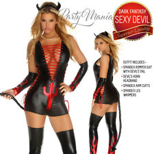 SEXY NAUGHTY SEDUCTIVE HALLOWEEN DARK FANTASY DEVIL FANCY DRESS WOMENS COSTUME