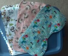 Handmade baby burp cloths TRIPLE LAYER soft flannel