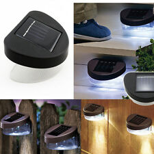 Solar Power In/Outdoor 2-LED Light Garden Path Yard Wall Fence Wall Stairs Lamps