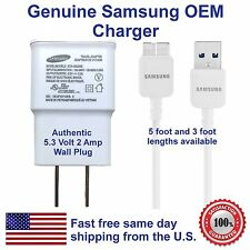 Samsung Galaxy S5 note 3 charger.  genuine oem.  5' cable,  5.3v 2 amp adapter