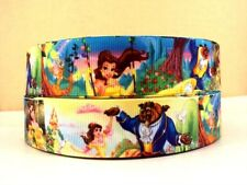 THREE (3) YARDS Beauty and the Beast high Quality Grosgrain Ribbon