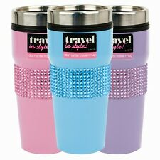Coffee Tea Diamante Insulated Stainless Steel Travel Mug Vacuum Cup Flask