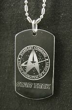 "Star Trek "" Engraving Necklace Tag "" Available Ur text"