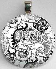 Handmade Interchangeable Magnetic Black and White Patterns #39 Pendant Necklace