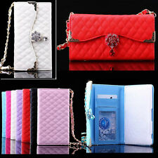 For Sony Xperia Z3 Luxury Bling 2in1 Handbag Wallet Flip PU Leather Cover Case
