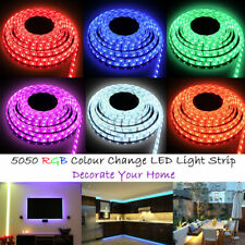 3528 5050 5M White/RGB 300 SMD 12V Dimmable LED Strip Under Cupboard Lighting