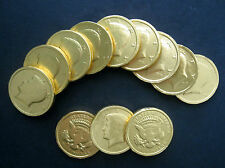 Gold Foil Covered Chocolate Kenndey Half Dollar Coins Candy 64 per lb  Free Ship