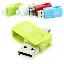 HOT! USB 2.0 OTG Micro Card Reader Flash Drive Storage For Smart Phone Tablet