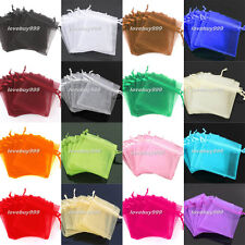 Fashion 7*9cm  /  9*12cm Organza Jewelry Packing Pouch Wedding Favor Gift Bags
