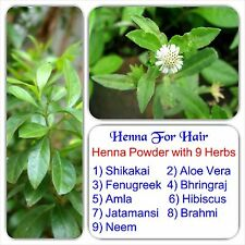 100% Natural henna powder with 9 Essential herbs - henna powder for hair care