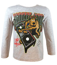 Scooby Doo Long Sleeve T-Shirt for Boys 3 to 8 Years | Grey