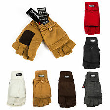 3 Pairs Partial Defective Thinsulate Thermal Insulation Fingerless Mitten Gloves