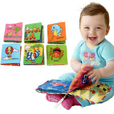 Hot Soft Cloth Baby Kid Intelligence Development Learn Picture Cognize Book