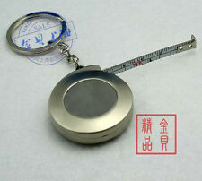 Stainless Steel Keychain Ring Retractable Tape Measure Small Portable Pull Ruler