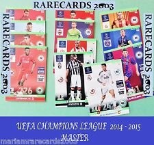 Choose Your ADRENALYN XL MASTER 14/15 CHAMPIONS LEAGUE 2014 2015 PANINI