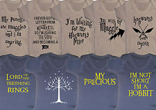 harry potter lord of the rings inspired baby vest grow boys girls new