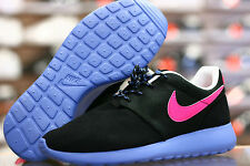 Youth / Womens Nike Roshe Run Sneakers New, Cotton Candy, Blk pink 599729-001