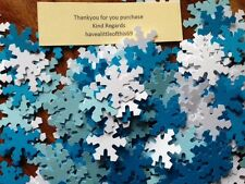225 Christmas Xmas FROZEN white blue card snowflakes confetti table decorations