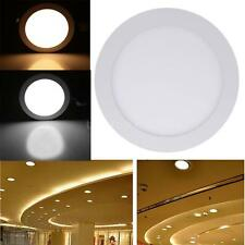 12W Round LED Recessed Ceiling Panel Light Lamp for Bathroom Kitchen AC85-265V
