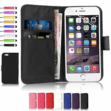 FLIP WALLET LEATHER CASE COVER APPLE IPHONE 6/6S 4.7 INCH FREE SCREEN PROTECTOR