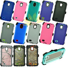 for Samsung galaxy S4 Camo defensive rugged case w/Belt Clip&screen protector