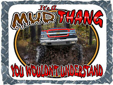 2003-2007 CHEVROLET TRUCK 4X4 MUD THANG BOGGING PRINTED T-SHIRT SMALL-4XL NEW