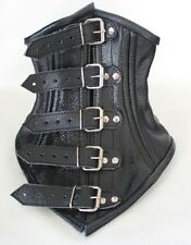 Buckle Real Cow Leather Under Chin Neck Corset Posture Collar 3 Colors S-XL