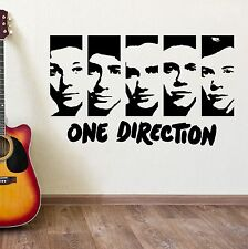 ONE DIRECTION WALL STICKERS VINYL WALL ART ROOM STICKER DECAL 1D PORTRAIT