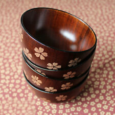 Durable Handmade Wood Soup Rice Salad Dining Bowl Miso Soupe bois Wooden Bowls