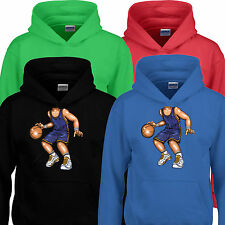 Basketball Ball Body Character Funny Kids Boy Children Hoodie Hoody Gift Present