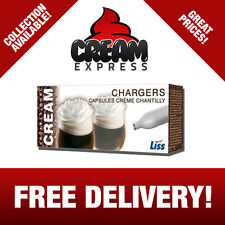 LISS N2O NOS NOZ Nitrous Oxide Cream Chargers Cannisters  - FREE DELIVERY