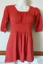 New RED Pregnancy Maternity Tunic Top Dress Size 8 10 12 14 16 18