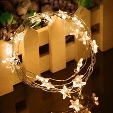Micro LED 20 Star Lights Battery Operated on 2m Long Copper Color String EOD