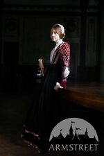 Medieval Costume , Renaissance Clothing Florentine Dress Natural Velvet