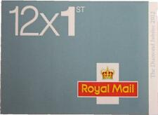 Diamond Jubilee 2012 Postage Stamps Royal Mail 1st Class Book of 12