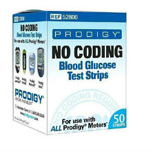 Prodigy Glucose Test Strips for Prodigy's Autocode Talking Meter & Pocket Meters