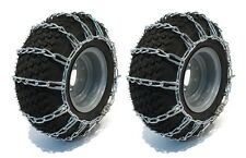 18x8.5x8 TIRE CHAINS 2 Link for John Deere F X 400 Series Lawn Mower Tractor
